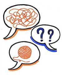 le coaching c'est poser les bonnes questions pour démêler une pelote de laine.
