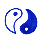 Les polarités, deux constituants d'une même réalité, comme le Ying et le Yang dessinés ici.