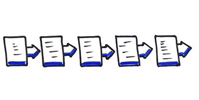 Processus linéaire en 5 étapes