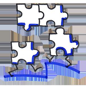 la co création, c'est chacun qui apporte sa pièce de puzzle.