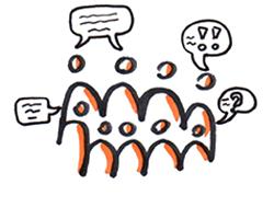 Dans un groupe, partager c'est pouvoir parler, poser des questions et s'écouter.