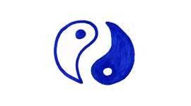 Les polarités, deux constituants d'une me^me réalité, comme le Ying et le Yang dessinés ici.